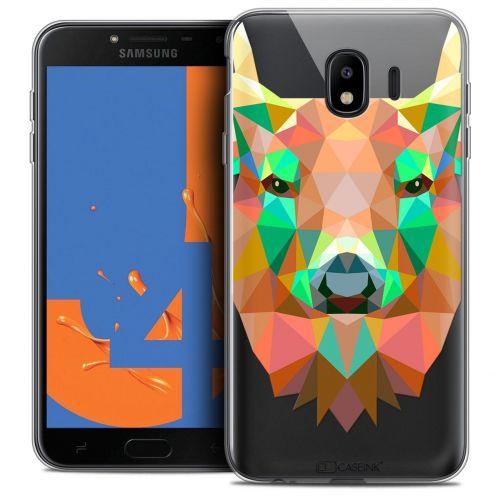 """Coque Crystal Gel Samsung Galaxy J4 2018 J400 (5.5"""") Extra Fine Polygon Animals - Cerf"""