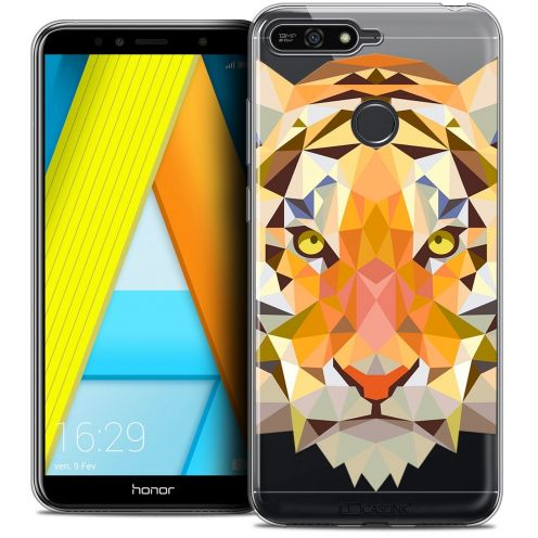 "Coque Crystal Gel Honor 7A (5.7"") Extra Fine Polygon Animals - Tigre"