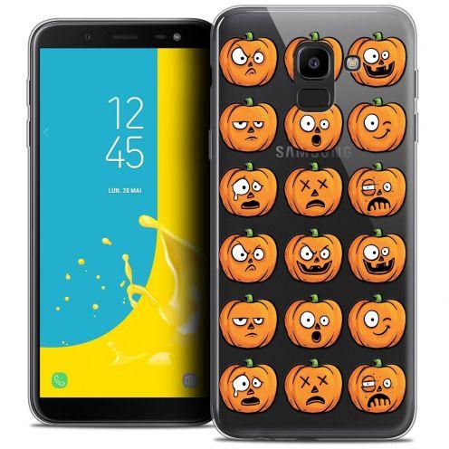 "Coque Crystal Gel Samsung Galaxy J6 2018 J600 (5.6"") Extra Fine Halloween - Cartoon Citrouille"