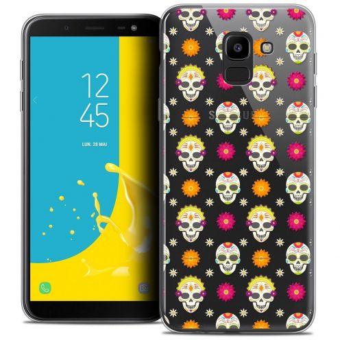 """Coque Crystal Gel Samsung Galaxy J6 2018 J600 (5.6"""") Extra Fine Halloween - Skull Halloween"""