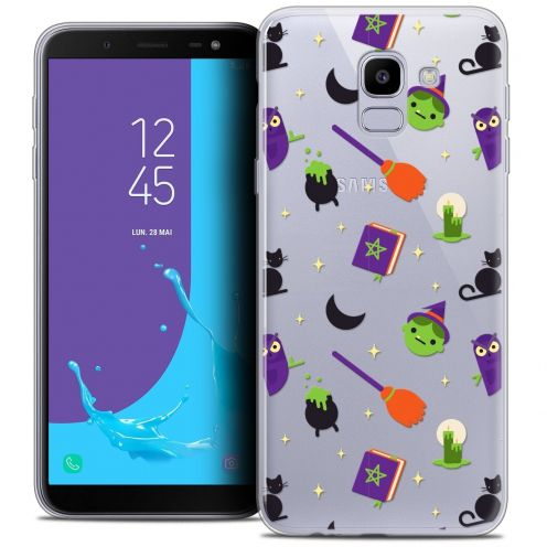 "Coque Crystal Gel Samsung Galaxy J6 2018 J600 (5.6"") Extra Fine Halloween - Witch Potter"