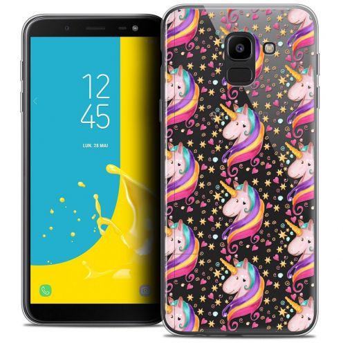 "Coque Crystal Gel Samsung Galaxy J6 2018 J600 (5.6"") Extra Fine Fantasia - Licorne Etoilée"