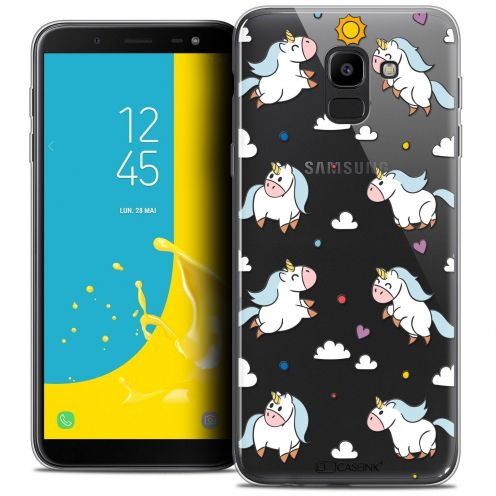 "Coque Crystal Gel Samsung Galaxy J6 2018 J600 (5.6"") Extra Fine Fantasia - Licorne In the Sky"