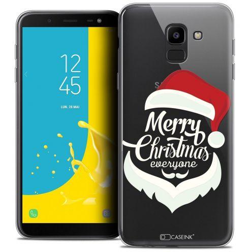 "Coque Crystal Gel Samsung Galaxy J6 2018 J600 (5.6"") Extra Fine Noël 2017 - Merry Everyone"