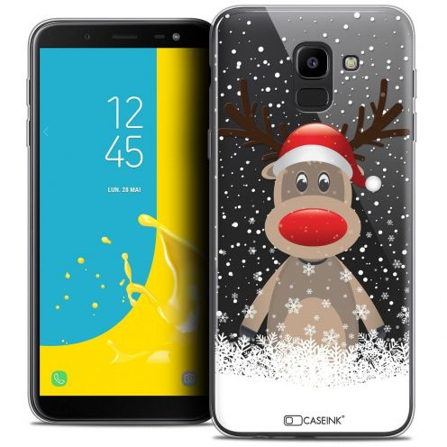 """Coque Crystal Gel Samsung Galaxy J6 2018 J600 (5.6"""") Extra Fine Noël 2017 - Cerf au Bonnet"""