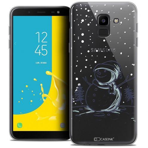 "Coque Crystal Gel Samsung Galaxy J6 2018 J600 (5.6"") Extra Fine Noël 2017 - Bonhomme de Neige"