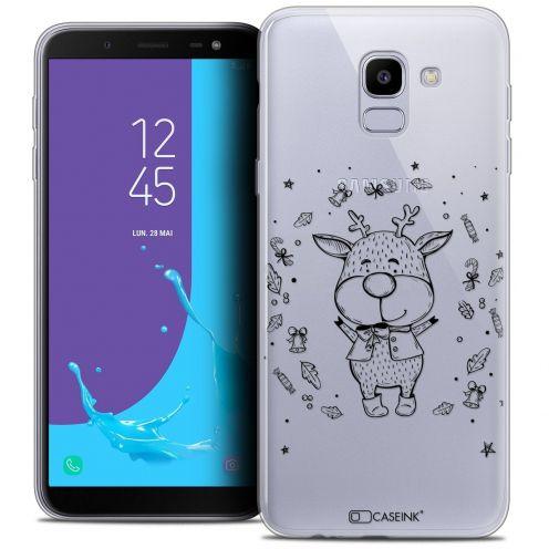 """Coque Crystal Gel Samsung Galaxy J6 2018 J600 (5.6"""") Extra Fine Noël 2017 - Sketchy Cerf"""