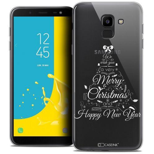 "Coque Crystal Gel Samsung Galaxy J6 2018 J600 (5.6"") Extra Fine Noël 2017 - Calligraphie"