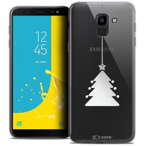 "Coque Crystal Gel Samsung Galaxy J6 2018 J600 (5.6"") Extra Fine Noël 2017 - Petit Arbre"