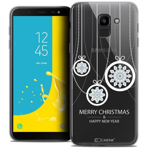 "Coque Crystal Gel Samsung Galaxy J6 2018 J600 (5.6"") Extra Fine Noël 2017 - Christmas Balls"