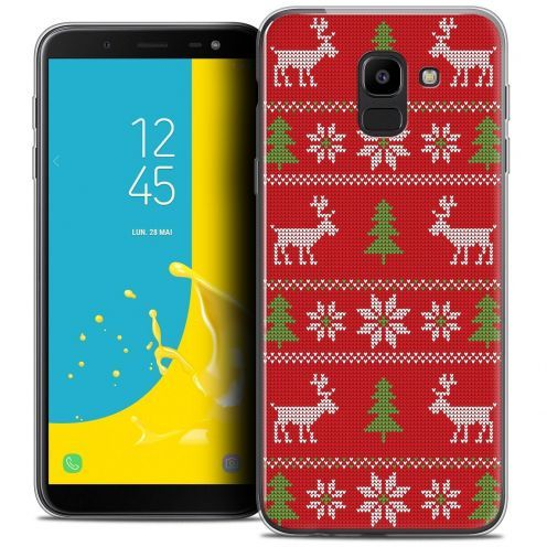"""Coque Crystal Gel Samsung Galaxy J6 2018 J600 (5.6"""") Extra Fine Noël 2017 - Couture Rouge"""