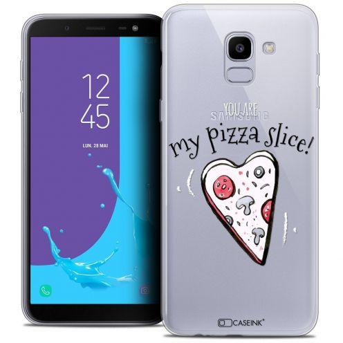 "Coque Crystal Gel Samsung Galaxy J6 2018 J600 (5.6"") Extra Fine Love - My Pizza Slice"