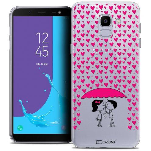 "Coque Crystal Gel Samsung Galaxy J6 2018 J600 (5.6"") Extra Fine Love - Pluie d'Amour"