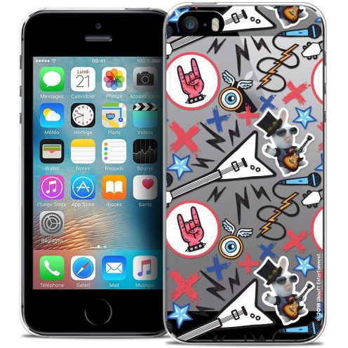 Coque iPhone 5/5s/SE Extra Fine Lapins Crétins™ - Rock Pattern
