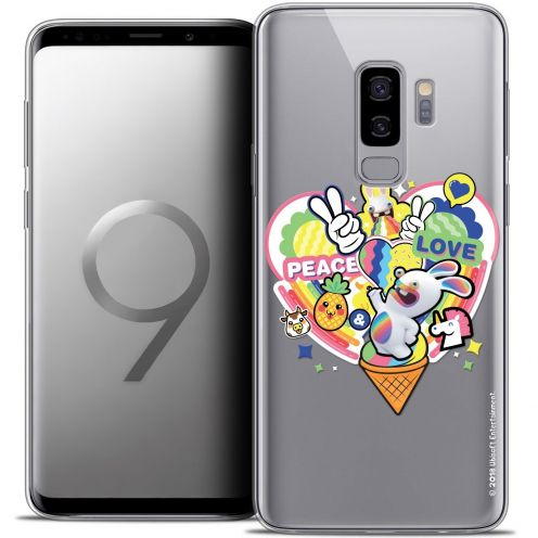 """Coque Gel Samsung Galaxy S9+ (6.2"""") Extra Fine Lapins Crétins™ - Peace And Love"""