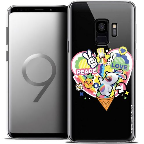 """Coque Gel Samsung Galaxy S9 (5.8"""") Extra Fine Lapins Crétins™ - Peace And Love"""