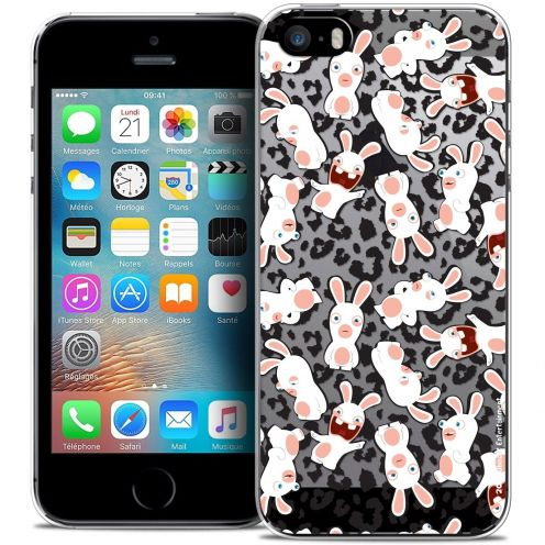 Coque iPhone 5/5s/SE Extra Fine Lapins Crétins™ - Leopard Pattern