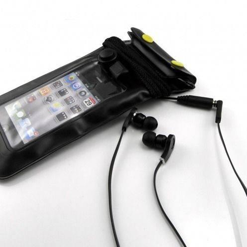 Housse étanche + prise écouteurs iPhone 3G / iPhone 4 / 4S / 5 Noir