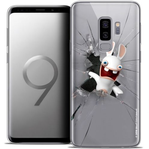 "Coque Gel Samsung Galaxy S9+ (6.2"") Extra Fine Lapins Crétins™ - Breaking Glass"