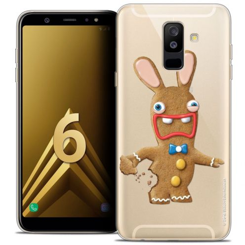 "Coque Gel Samsung Galaxy A6 PLUS 2018 (6"") Extra Fine Lapins Crétins™ - Cookie"