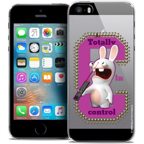 Coque iPhone 5/5s/SE Extra Fine Lapins Crétins™ - In Control !