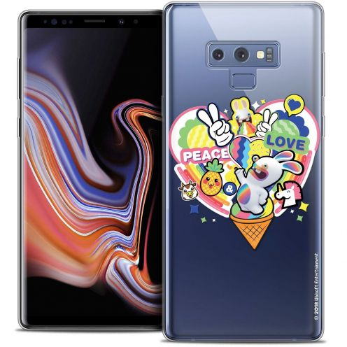 """Coque Gel Samsung Galaxy Note 9 (6.4"""") Extra Fine Lapins Crétins™ - Peace And Love"""