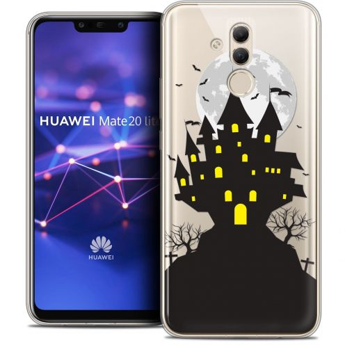 "Coque Crystal Gel Huawei Mate 20 Lite (6.3"") Extra Fine Halloween - Castle Scream"