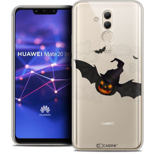 "Coque Crystal Gel Huawei Mate 20 Lite (6.3"") Extra Fine Halloween - Chauve Citrouille"