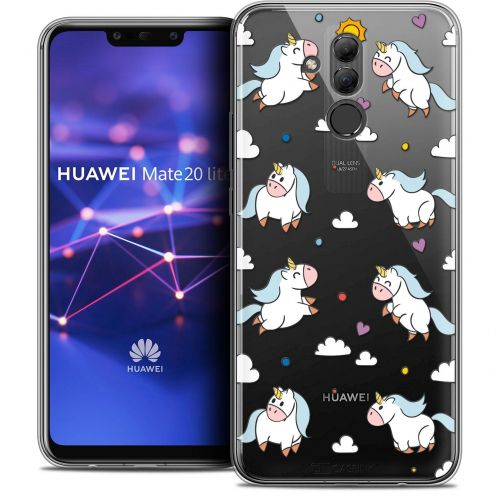 "Coque Crystal Gel Huawei Mate 20 Lite (6.3"") Extra Fine Fantasia - Licorne In the Sky"