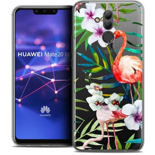 "Coque Crystal Gel Huawei Mate 20 Lite (6.3"") Extra Fine Watercolor - Tropical Flamingo"
