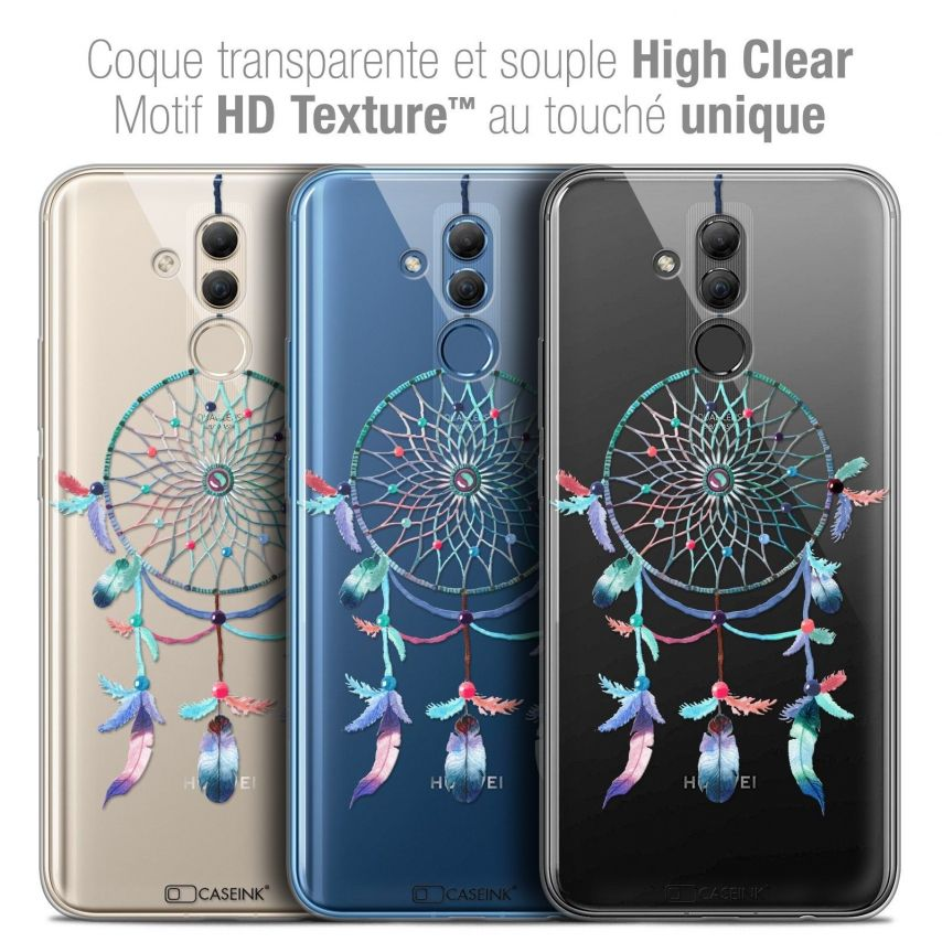 "Coque Crystal Gel Huawei Mate 20 Lite (6.3"") Extra Fine Dreamy - Attrape Rêves Rainbow"