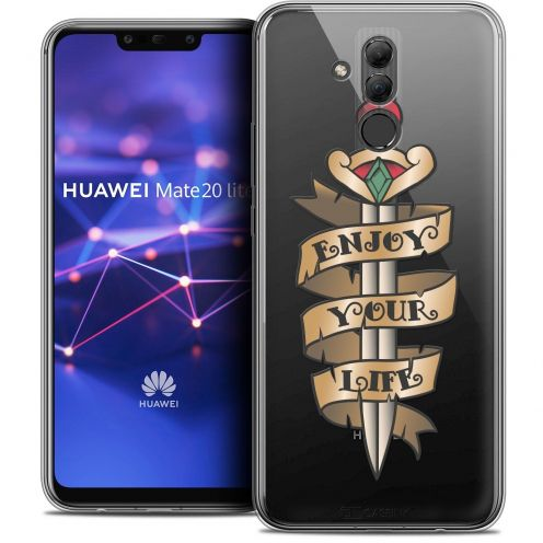 "Coque Crystal Gel Huawei Mate 20 Lite (6.3"") Extra Fine Tatoo Lover - Enjoy Life"