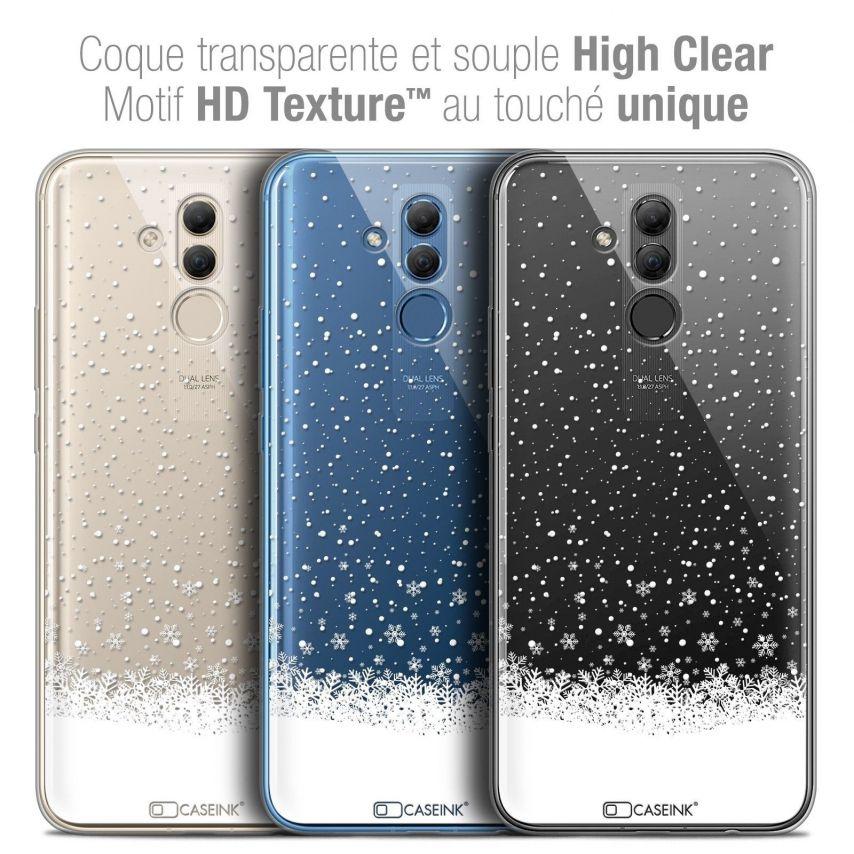 "Coque Crystal Gel Huawei Mate 20 Lite (6.3"") Extra Fine Noël 2017 - Flocons de Neige"