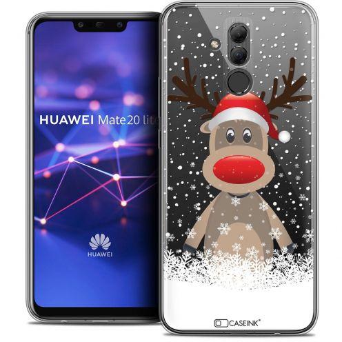 "Coque Crystal Gel Huawei Mate 20 Lite (6.3"") Extra Fine Noël 2017 - Cerf au Bonnet"