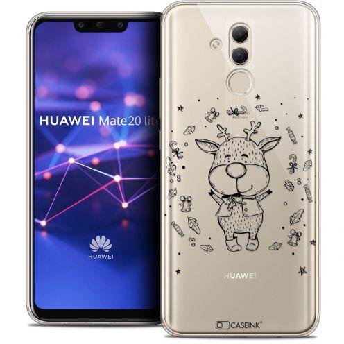 """Coque Crystal Gel Huawei Mate 20 Lite (6.3"""") Extra Fine Noël 2017 - Sketchy Cerf"""