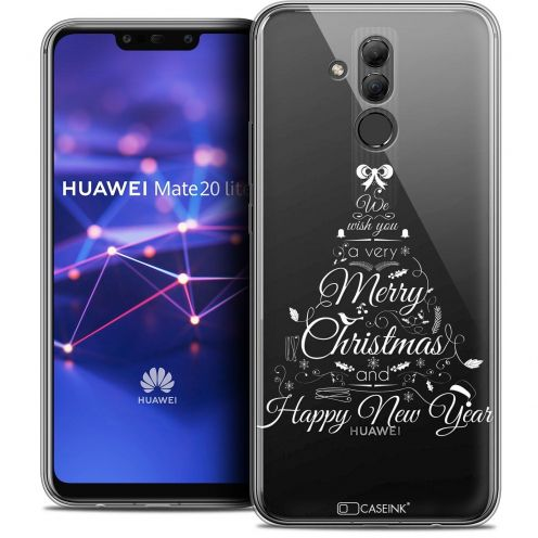 "Coque Crystal Gel Huawei Mate 20 Lite (6.3"") Extra Fine Noël 2017 - Calligraphie"