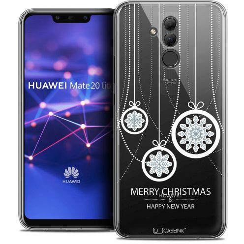 "Coque Crystal Gel Huawei Mate 20 Lite (6.3"") Extra Fine Noël 2017 - Christmas Balls"