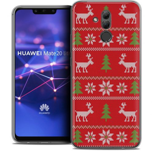 "Coque Crystal Gel Huawei Mate 20 Lite (6.3"") Extra Fine Noël 2017 - Couture Rouge"