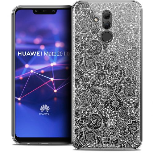 "Coque Crystal Gel Huawei Mate 20 Lite (6.3"") Extra Fine Dentelle Florale - Blanc"