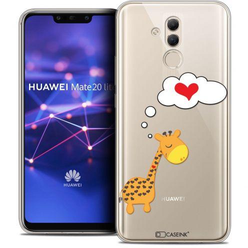 "Coque Crystal Gel Huawei Mate 20 Lite (6.3"") Extra Fine Love - Girafe Amoureuse"