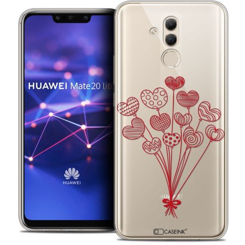 "Coque Crystal Gel Huawei Mate 20 Lite (6.3"") Extra Fine Love - Ballons d'amour"