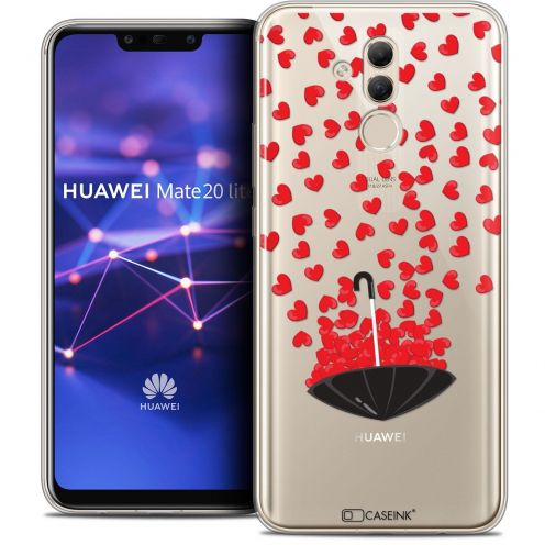 "Coque Crystal Gel Huawei Mate 20 Lite (6.3"") Extra Fine Love - Parapluie d'Amour"