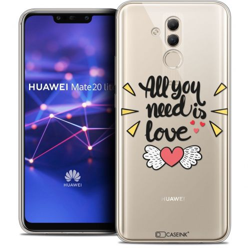 "Coque Crystal Gel Huawei Mate 20 Lite (6.3"") Extra Fine Love - All U Need Is"