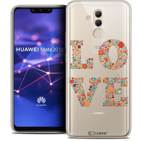 "Coque Crystal Gel Huawei Mate 20 Lite (6.3"") Extra Fine Summer - Love Flowers"