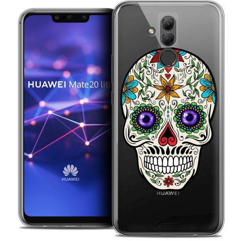 "Coque Crystal Gel Huawei Mate 20 Lite (6.3"") Extra Fine Skull - Maria's Flower"