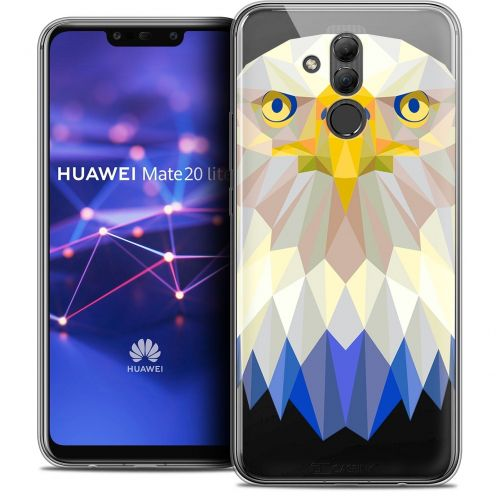 "Coque Crystal Gel Huawei Mate 20 Lite (6.3"") Extra Fine Polygon Animals - Aigle"