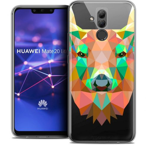 "Coque Crystal Gel Huawei Mate 20 Lite (6.3"") Extra Fine Polygon Animals - Cerf"
