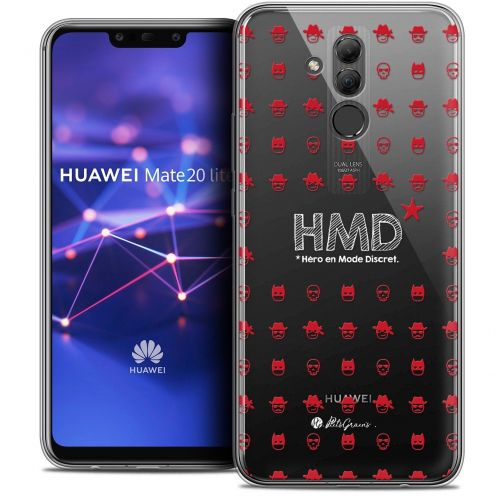 "Coque Gel Huawei Mate 20 Lite (6.3"") Extra Fine Petits Grains® - HMD* Hero en Mode Discret"