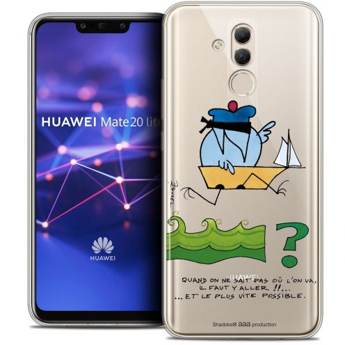 "Coque Gel Huawei Mate 20 Lite (6.3"") Extra Fine Les Shadoks® - Il Faut Y Aller !!"