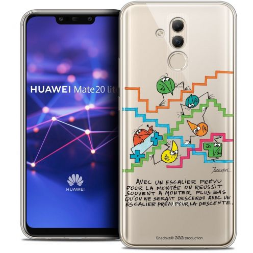 "Coque Gel Huawei Mate 20 Lite (6.3"") Extra Fine Les Shadoks® - L'escalier"